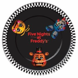 "Forum Novelties Five Nights At Freddy's 9"" Dinner Plates, 8 pcs"
