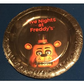 "Forum Novelties Five Nights At Freddy's 7"" Desert Plates, 8 pcs"