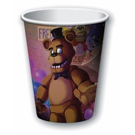 Forum Novelties Five Nights At Freddy's  9 oz. Paper Cups, 8 pcs