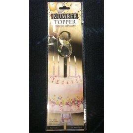 Forum Novelties Number Topper #8 - Gold