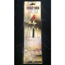 Forum Novelties Number Topper #4 - Gold