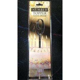 Forum Novelties Number Topper #9 - Silver