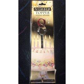 Forum Novelties Number Topper #8 - Silver