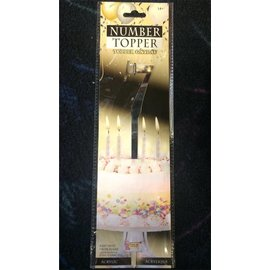 Forum Novelties Number Topper #7 - Silver