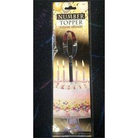 Forum Novelties Number Topper #0 - Silver