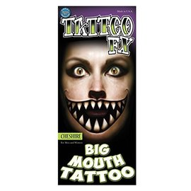 Tinsley Transfers Chesire Big Mouth Tattoo