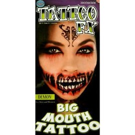 Tinsley Transfers Demon Big Mouth Tattoo