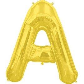"""Conver USA Letter A Gold 34"""" Balloon"""