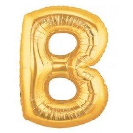 "Conver USA Letter B Gold 34"" Balloon"