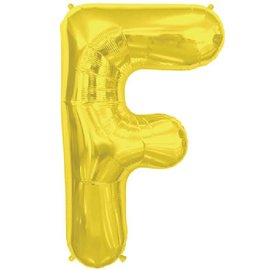 "Conver USA Letter F Gold 34"" Balloon"