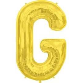 "Conver USA Letter G Gold 34"" Balloon"