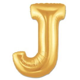 "Conver USA Letter J Gold 34"" Balloon"