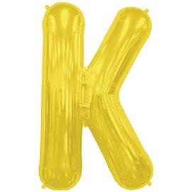 "Conver USA Letter K Gold 34"" Balloon"