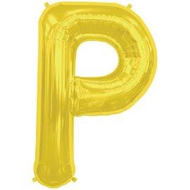 """Conver USA Letter P Gold 34"""" Balloon"""