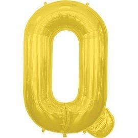 "Conver USA Letter Q Gold 34"" Balloon"