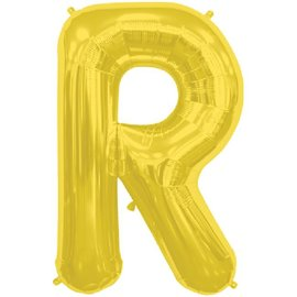 "Conver USA Letter R Gold 34"" Balloon"
