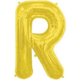 """Conver USA Letter R Gold 34"""" Balloon"""