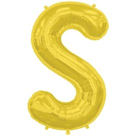 "Conver USA Letter S Gold 34"" Balloon"