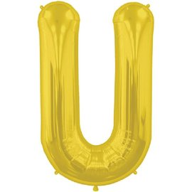 "Conver USA Letter U Gold 34"" Balloon"