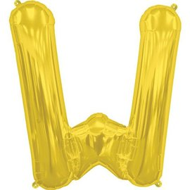 "Conver USA Letter W Gold 34"" Balloon"