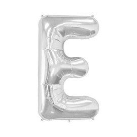"""Conver USA Letter E Silver 34"""" Balloon"""