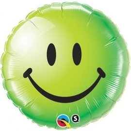 Qualatex Green Smiley Face Balloon 18""