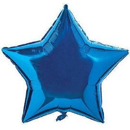 Anagram Metallic Blue Star Foil Balloon 19""