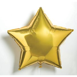 "Anagram Metallic Gold Star Foil Balloon 19"""