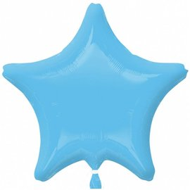 Anagram Pale Blue Star Foil Balloon 19""