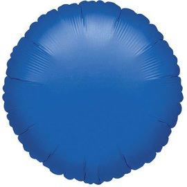 """Anagram Metallic Blue Round Foil Balloon 18"""""""