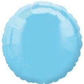 "Anagram Pale Blue Round Foil Balloon 18"""