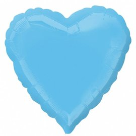 Anagram Pale Blue Heart Foil Balloon 18""