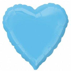 "Anagram Pale Blue Heart Foil Balloon 18"""