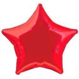Anagram Metallic Red Star Foil Balloon 19""