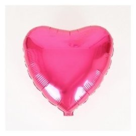 Anagram Metallic Fuschia Heart Foil Balloon 18""