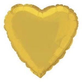 Anagram Metallic Gold Heart Foil Balloon 18""