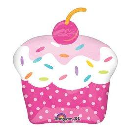 "Anagram Cupcake Balloon 28"""