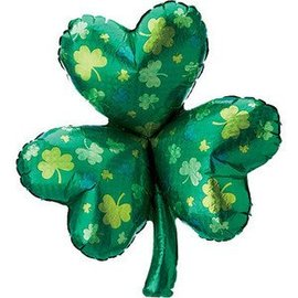 Betallic Inc. Holographic Green Shamrock Balloon 33""