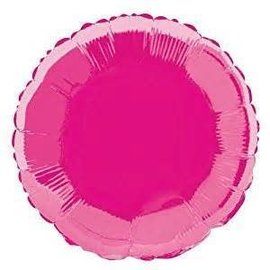 Anagram Metallic Pink Round Foil Balloon 18""