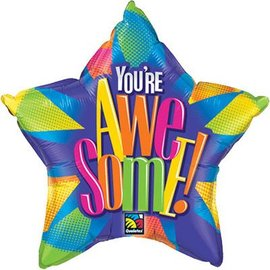 Qualatex You're Awesome Star Foil Balloon 20""