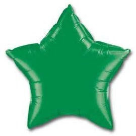 Anagram Metallic Green Star Foil Balloon 19""