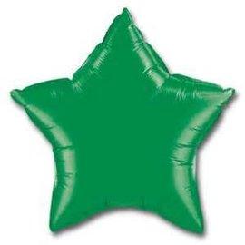 "Anagram Metallic Green Star Foil Balloon 19"""