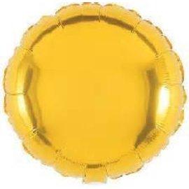 """Anagram Metallic Gold Round Foil Balloon 18"""""""