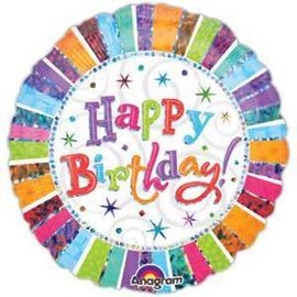 "Anagram Radiant Happy Birthday Prismatic Balloon 32"""
