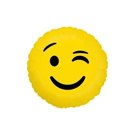 Betallic Inc. Wink Emoji Balloon 18""