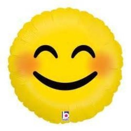 Betallic Inc. Smiley Emoji Balloon 18""