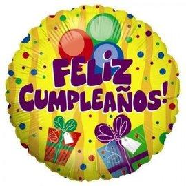 "Betallic Inc. Feliz Cumpleanos Balloon 18"""