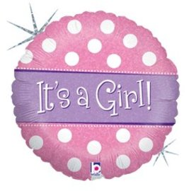 Betallic Inc. It's a Girl Balloon 18""