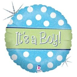 Betallic Inc. It's a Boy Balloon 18""