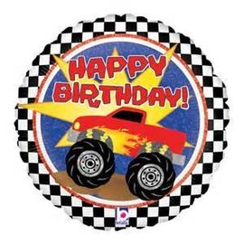 Betallic Inc. Monster Truck Happy Birthday Balloon 18""